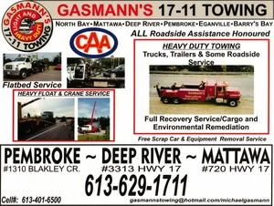 GASMANNS 17-11 TOWING