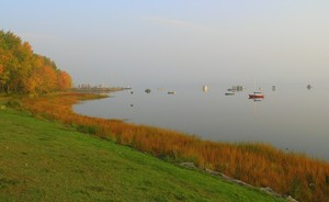 <b>Boats on the Waterfront in the fall care of Andree LeClair</b>