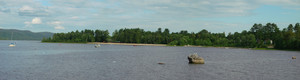 <b>Panorama of the waterfront and Lamure Beach care of Mike Thompson.</b>